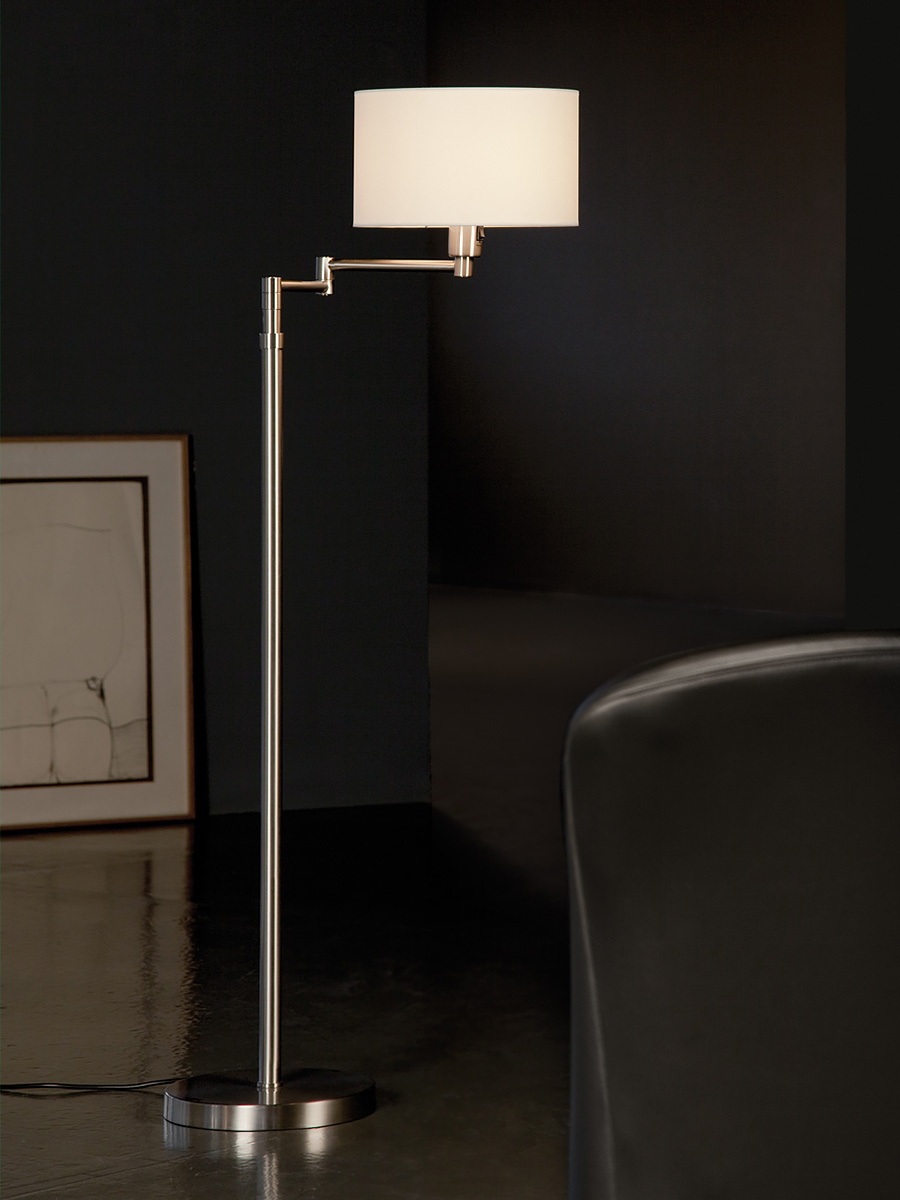Hansen Double Swing-Arm Floor Lamp