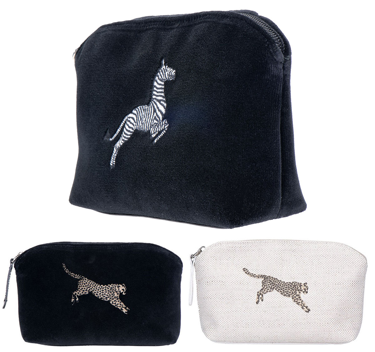 Leaping Cheetah and Zebra Pockets